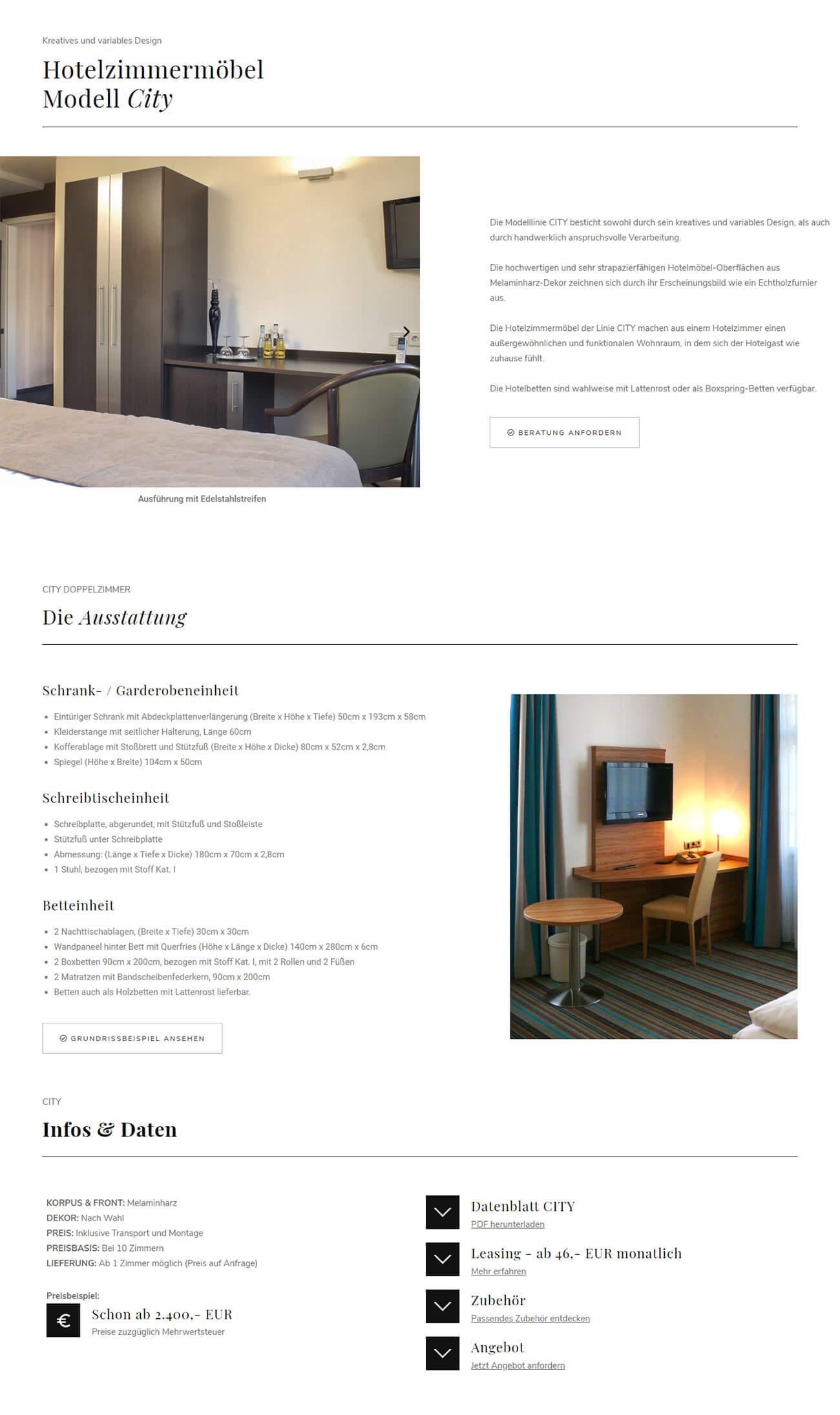 Webagentur Referenz Möbelherstellers